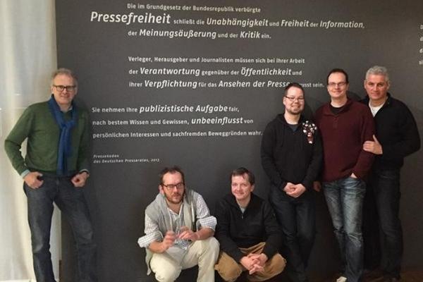 Das turi2-Team im Januar 2015 im Haus der Geschichte in Leipzig
