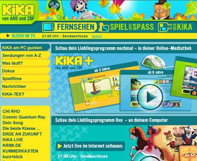 Kika.de-Screenshot