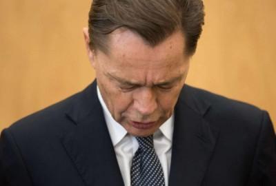 Erschüttert: Thomas Middelhoff bei der Urteilsverkündung (Foto: dpa)