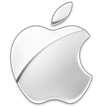Apple Logo grau 150