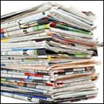Zeitungsstapel neutral 150