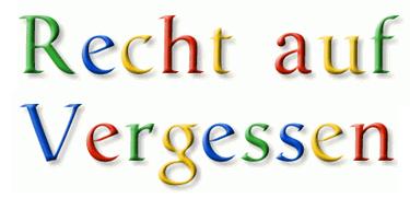 Recht auf Vergessen in Google Font