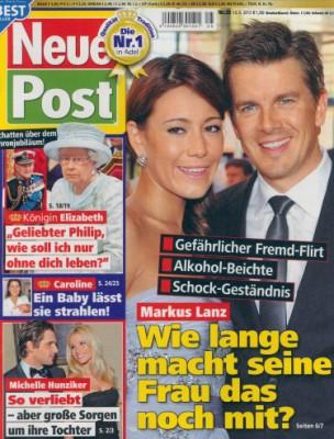 """""""Neue Post"""" bleibt mit rot-grün-gelben Klascht-Geschichten allein im Zeitschriften-Regal."""