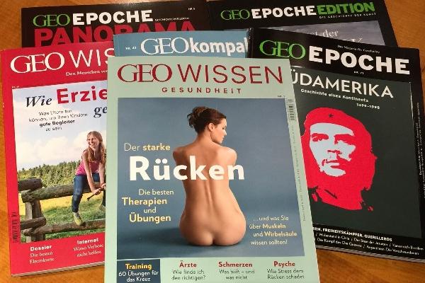 Geo hat Rücken - jetzt auch im Verlagsprogramm (Foto: Peter Turi)