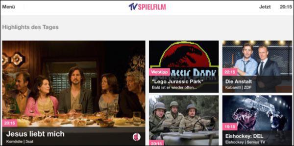 """Appdate: """"TV Spielfilm"""" zeigt das Fernsehprogramm künftig gleich selbst"""