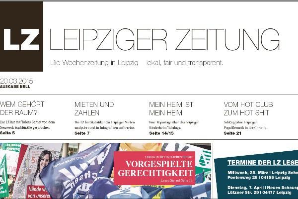 """Die """"Ausgabe Null"""" der """"Leipziger Zeitung"""" erreichte zu wenige Leser - dennoch soll es weitergehen."""