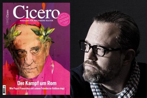 """Clap-Chefredakteur Peter """"Bulo"""" Böhling liest """"Cicero"""" und findet's """"furztrocken"""" aber gut illustriert. (Foto: """"Clap""""/Alexander von Spreti)"""