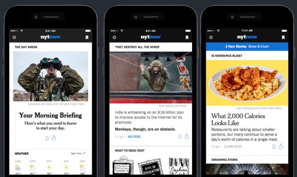 nytnow-App soll Nutzern Appetit auf mehr machen.
