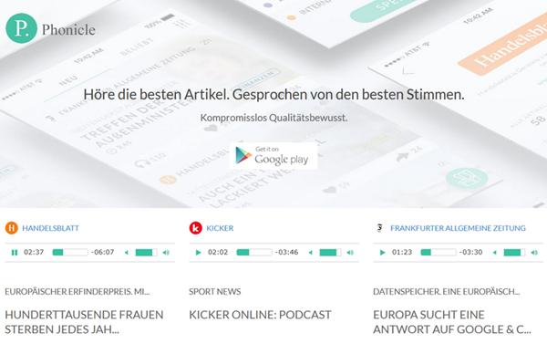 """Sprecher von detektor.fm lesen bei Phonicle Artikel aus der """"FAZ"""" und  dem """"Handelsblatt"""" vor."""