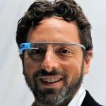 Google's Brin Wears Google Glasses During Fashion Week
