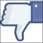 Facebook Daumen runter-150