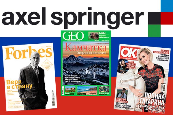 Axel Springer Russia - Flagge - Forbes - Geo - OK