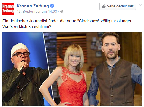Stadlshow-Facebook-Krone-Screenshot
