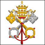 Vatikan Wappen Heiliger Stuhl 150