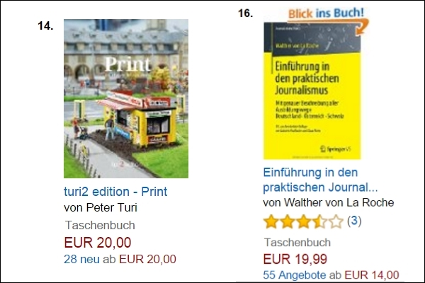 Amazon Journalismus-Ranking