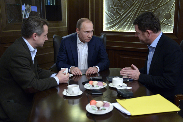 Russian President Vladimir Putin interviewed by Germany's Bild /Foto: picture alliance / dpa)