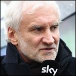 Rudi Völler am Sky-Mikro