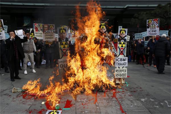 Südkorea Protest-600