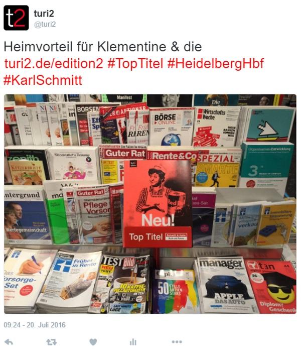 Retweet Klementine in Heidelberg2 600