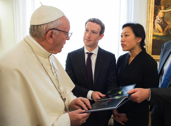 Pope Francis Meets With Facebook CEO Mark Zuckerberg - Vatican