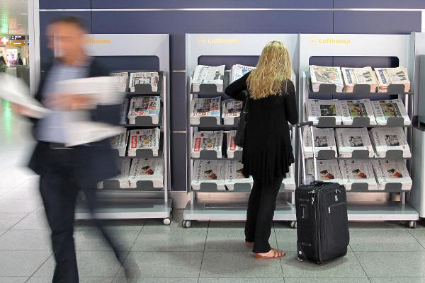 Zeitungen für Fluggäste