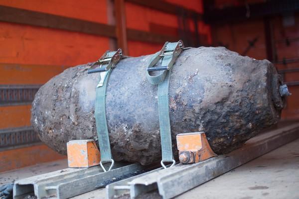 Fliegerbombe in Köln-Deutz gefunden