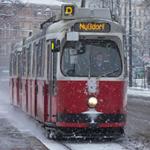 Strassenbahn Wien im Winter 150