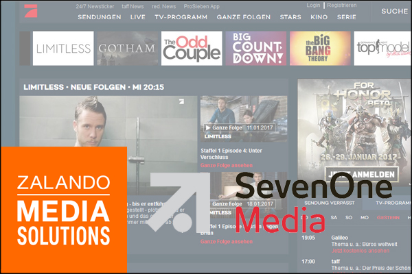 Zalando Media Solutions Seven One Media ProSieben Webseite600