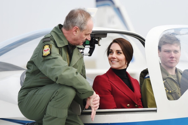 Duchess of Cambridge visit to RAF Wittering