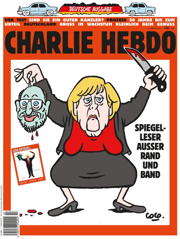 Charlie Hebdo Merkel-Schulz 600