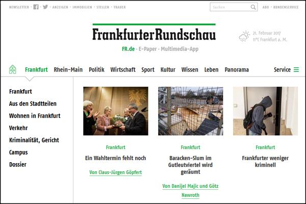 Frankfurter Rundschau Screenshot neue Seite 600