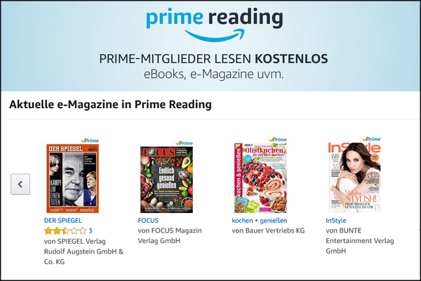 prime reading magazine