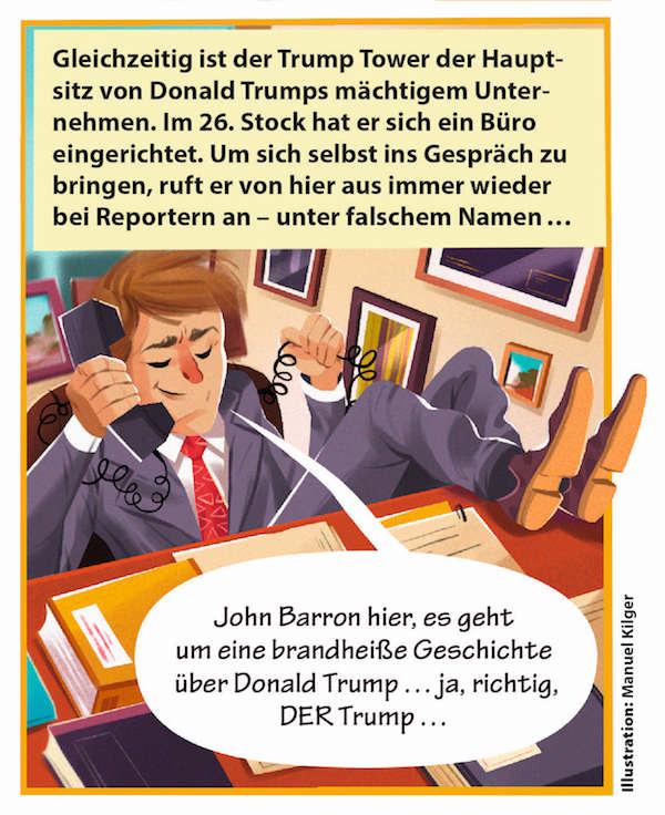 lese tipp kindermagazin geolino extra erkl rt in einem comic das ph nomen trump turi2. Black Bedroom Furniture Sets. Home Design Ideas