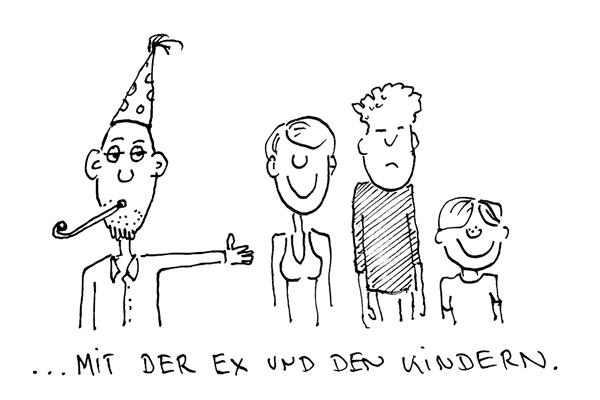 ... mit der Ex und den Kindern.